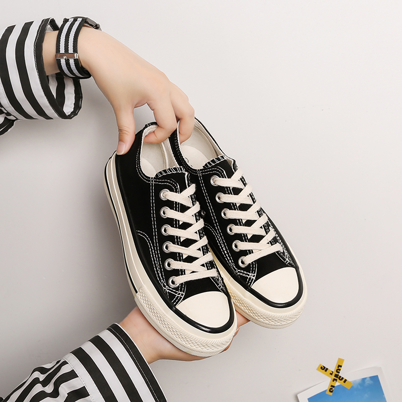 Bangnai 2020 new 1970s replica canvas shoes female Korean couple cloth shoes student low top board shoes mens fashion shoes