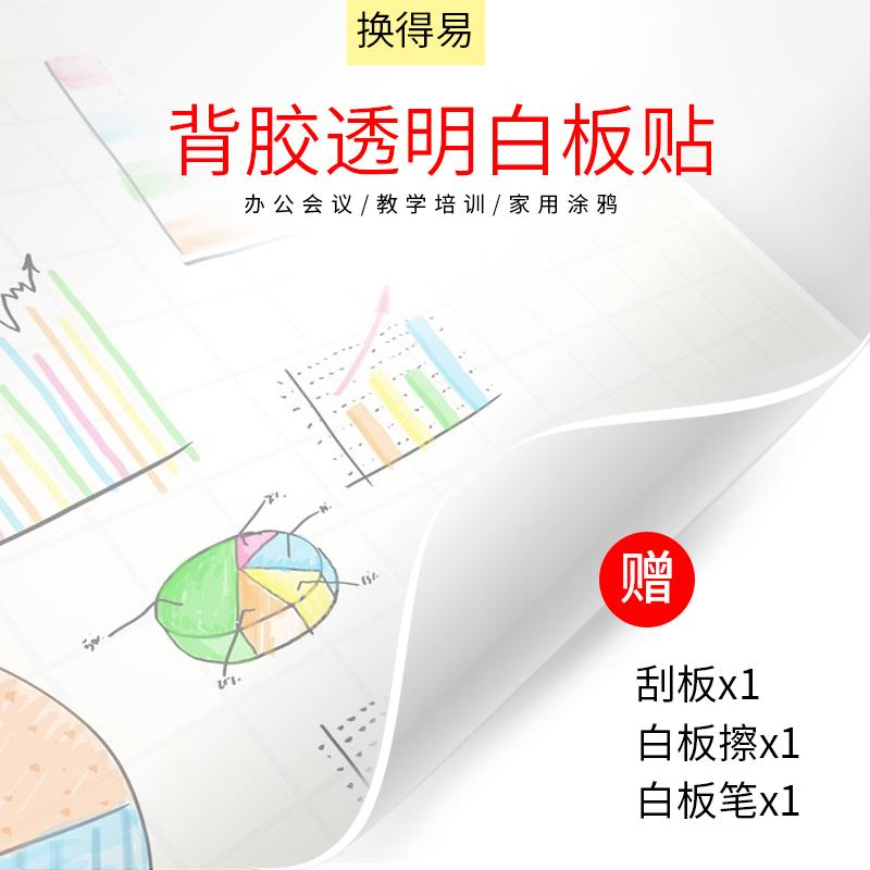 ホワイトボード膜透明オフィス教育、家庭用白色の自己接着投影ガラス膜を消去することができます。