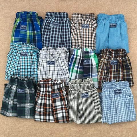 Mens new cotton aro pants loose large casual boxer pants cotton Home Shorts check underwear package