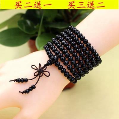 Incense beads bracelet, purple wood beads, multi-layer mens and womens bracelets, agarwood pieces, wooden bracelets.