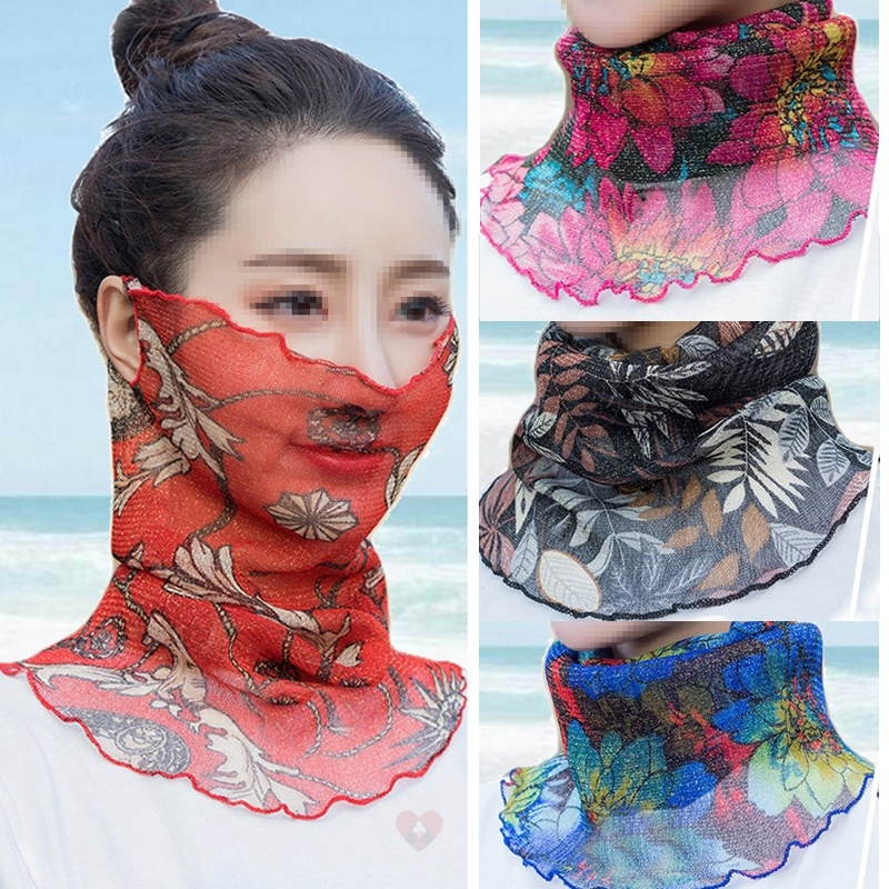 Sunscreen Neck Scarf Purple wrap girls good looking sports atmosphere cycling pink durable neck sun protection neck