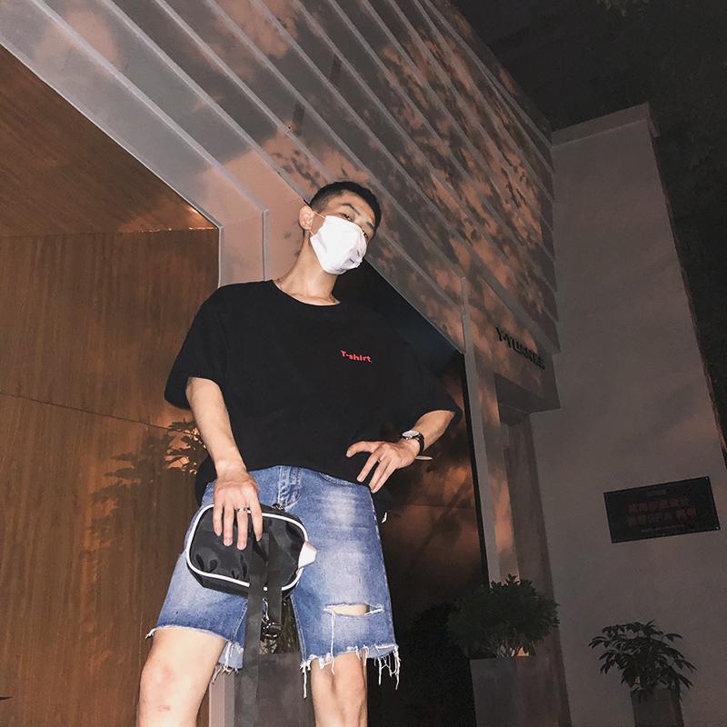 Heye 18s/s个性的衣服设计印花T恤男韩版男士短袖潮流情侣款宽松