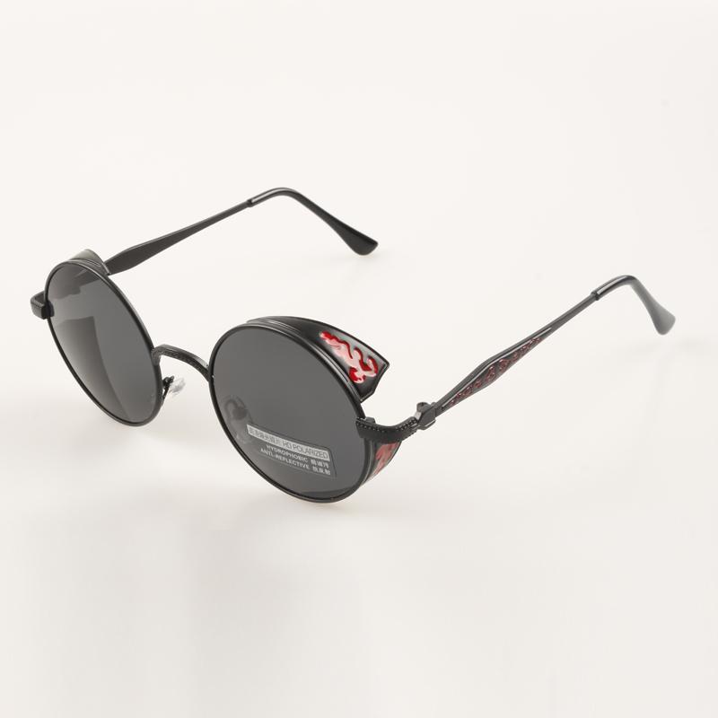 New 2021 sunglasses, round sunglasses, retro sculpture, Steampunk round frame sunglasses, female polarizer, male driver