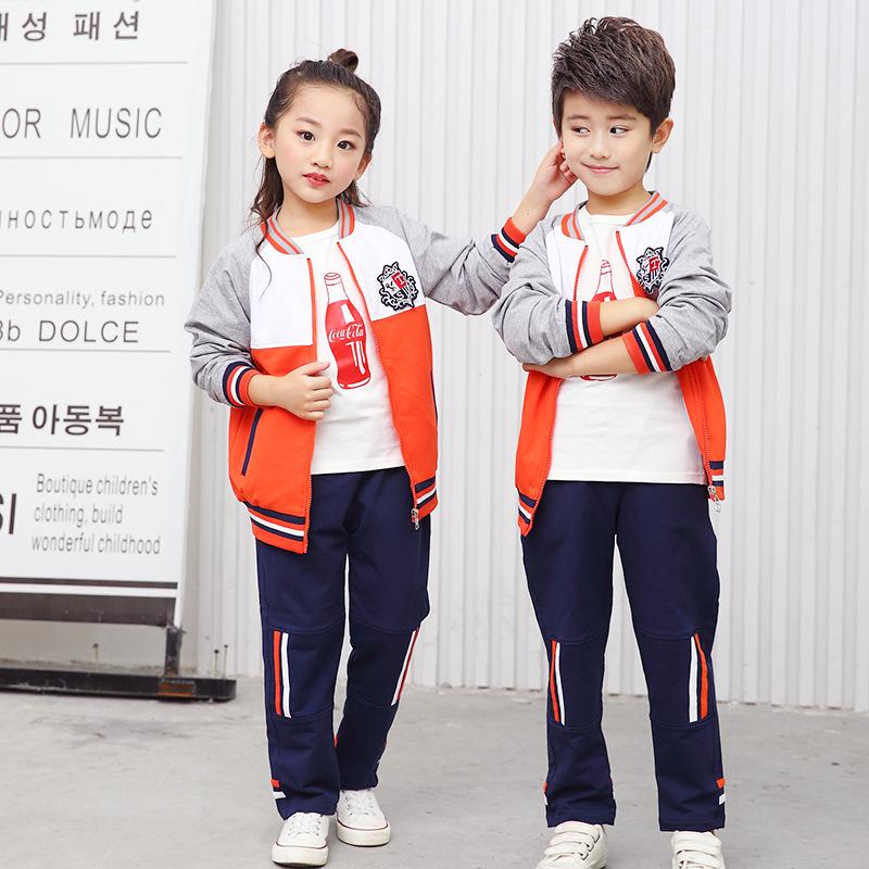 幼儿园秋季园服经典童话春款纯棉小学生校服运动亲子装套装童装