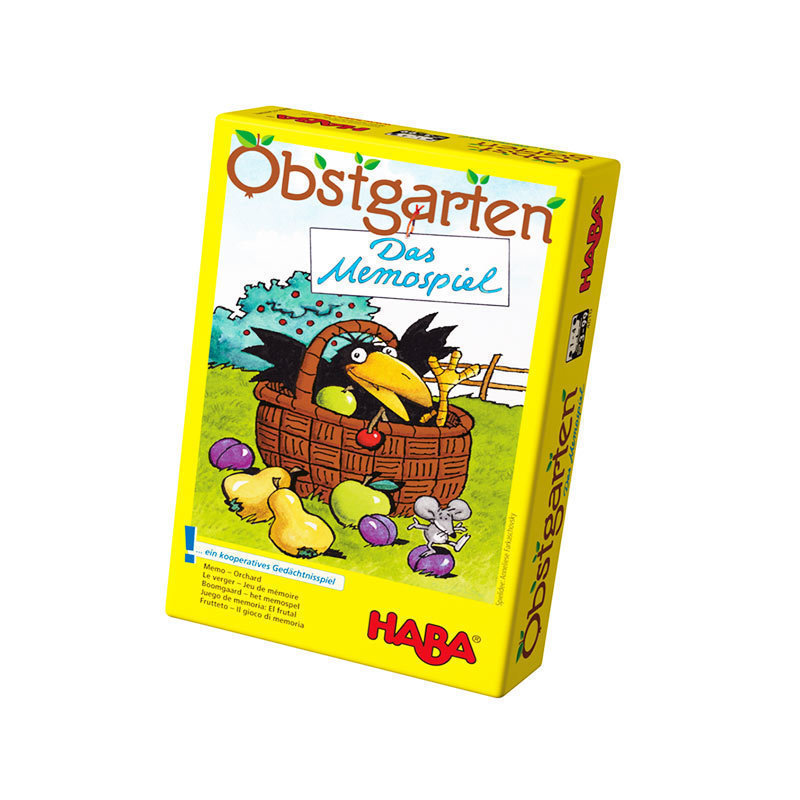 German Haba board game exercise 3-year-old children team consciousness early education board game crow eat fruit 4610