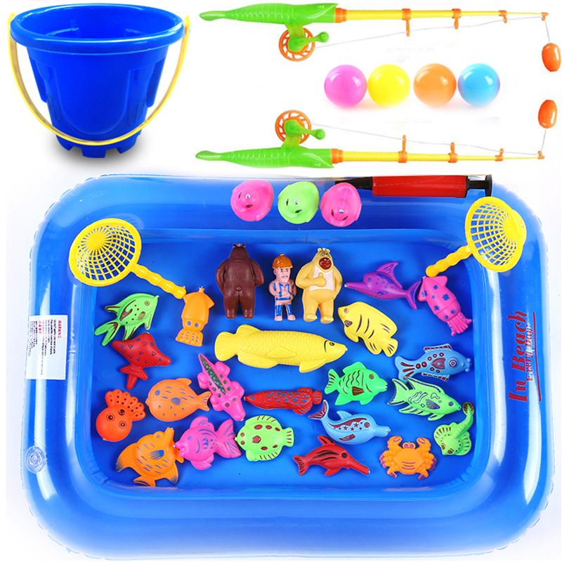 2-3-6 детей в возрасте ребенок ребенок рыболовство игрушки магнитный рыбалка поляк рыбалка люкс с бассейном купание