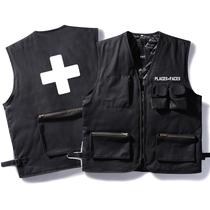 潮牌PLACES VEST加棉军事战术机能马甲背心工装多口袋二级甲男女