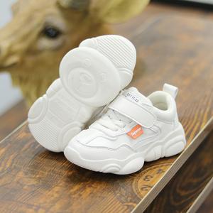 19秋冬ins宝宝鞋子小熊鞋1-3-6岁婴儿软底学步鞋运动男女童小白鞋
