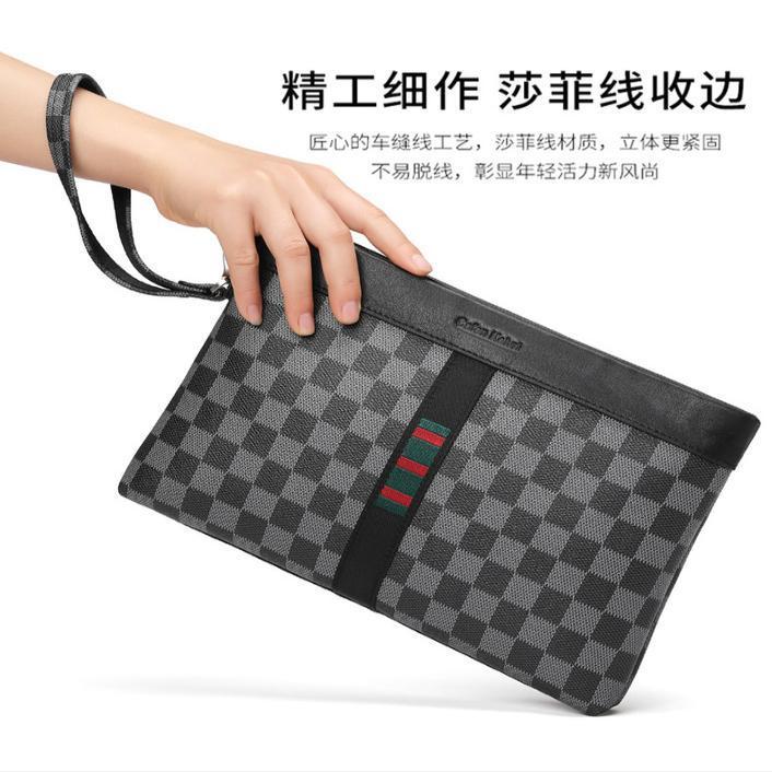 Handbag mens leisure business handbag simple portable mens handbag handbag wallet mens clip bag brand envelope bag