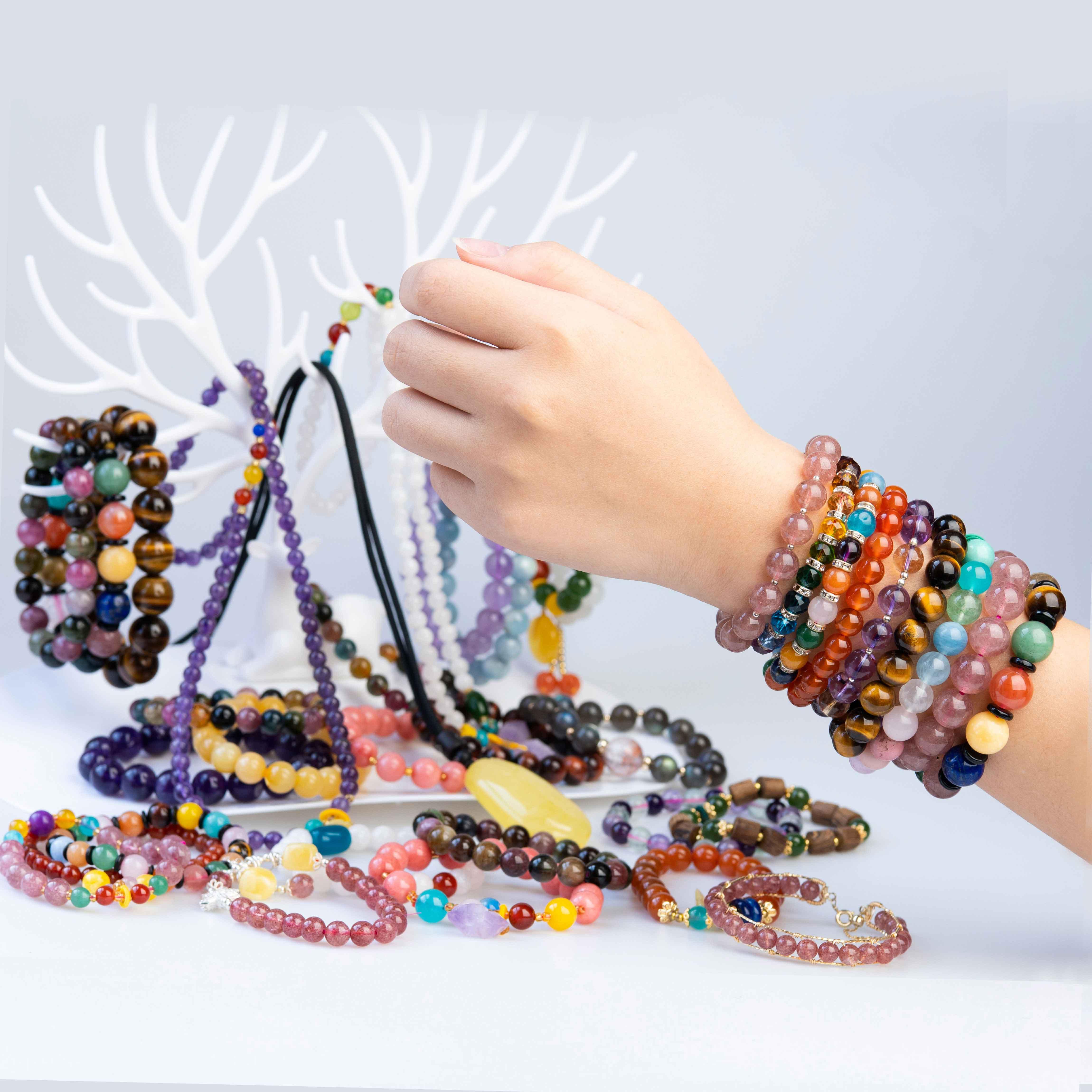 天然水晶手链新款推荐精美时尚水晶饰品幸福嫁到直播间付款链接
