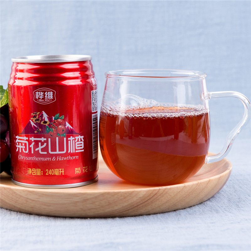 菊花山楂汁 夏季饮品 绿安梨汁凉茶果汁 特产酸甜山楂饮料整箱
