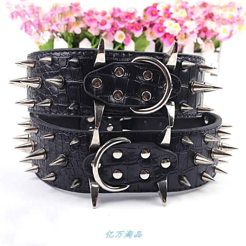 Yitao dog collar large and medium sized dog domineering pet collar wolf tooth pointed nail belt collar neck collar anti bite