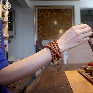 手串佛珠木质老山檀紫檀手链项链
