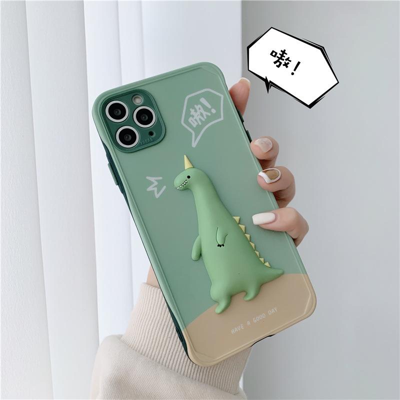 中國代購|中國批發-ibuy99|iphone 7 plus|卡通小恐龙适用iPhone12promax苹果11手机壳8/7plus立体xs/xr男女