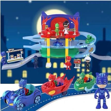 睡衣小英雄玩具全套绿壁侠猫头鹰女睡衣小英雄猫小子玩具总部