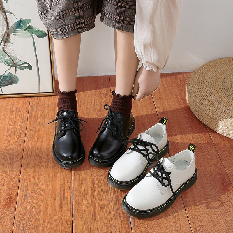 Vintage flat sole leather for students of the Department of wind and sun in Lolita school