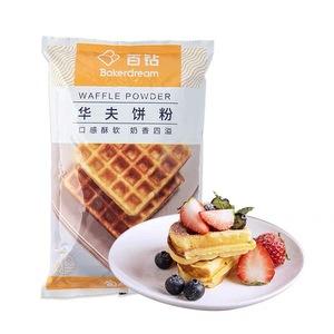 百钻松饼粉 原味华夫饼粉 家用做早餐煎饼铜锣烧材料烘焙原料1kg