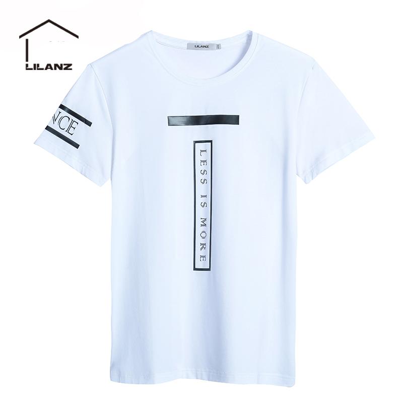 利郎Lilanzlessismore男士��松短袖印花�A�IT恤衫夏Q8XTX3481S-2S