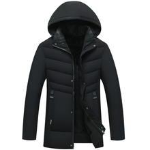Love middle-aged men's down padded clothes father's cotton padded jacket men's winter coat middle-aged and old men's plush and thickened cotton padded clothes man
