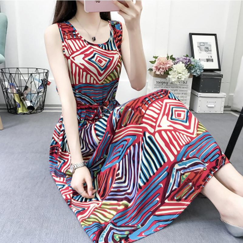 10月21日最新优惠棉绸连衣裙夏时尚显年轻女包臂夏季饨棉包殿中长款微胖人穿的外穿