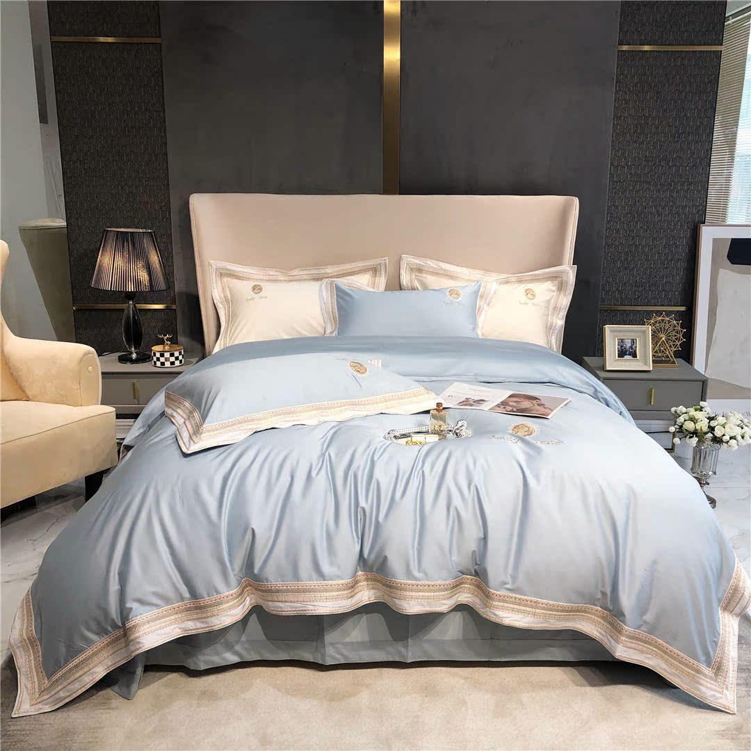 金典富アンナの見本室のフランス風のレースの刺繍寝具の寝具の寝具のハイエンドの100本の純綿の長い綿毛の綿