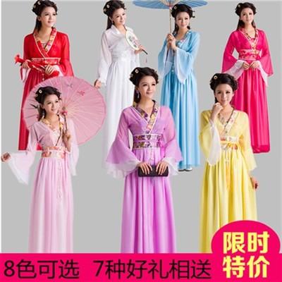 古装服装汉服唐装女童王昭君仙女成人儿童公主古筝古琴演出服