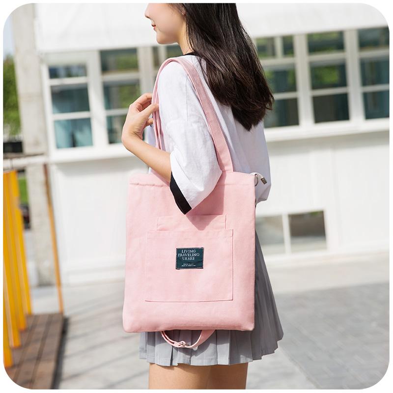 帆の布の袋の斜めのショルダーバッグの風の学校に行く手提げ袋のズックは大学生を包んで単に肩の女性の大容量の韓国版のカバンの簡単さを包みます。