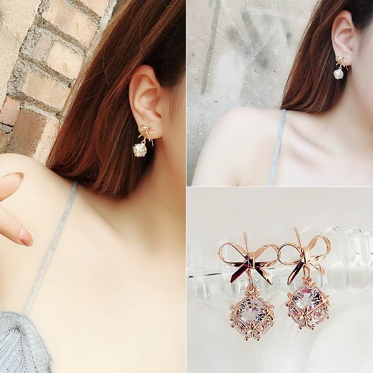 Spring and autumn ring decoration elegant daily new long earrings 2019 new fashion net red super fairy wedding round face