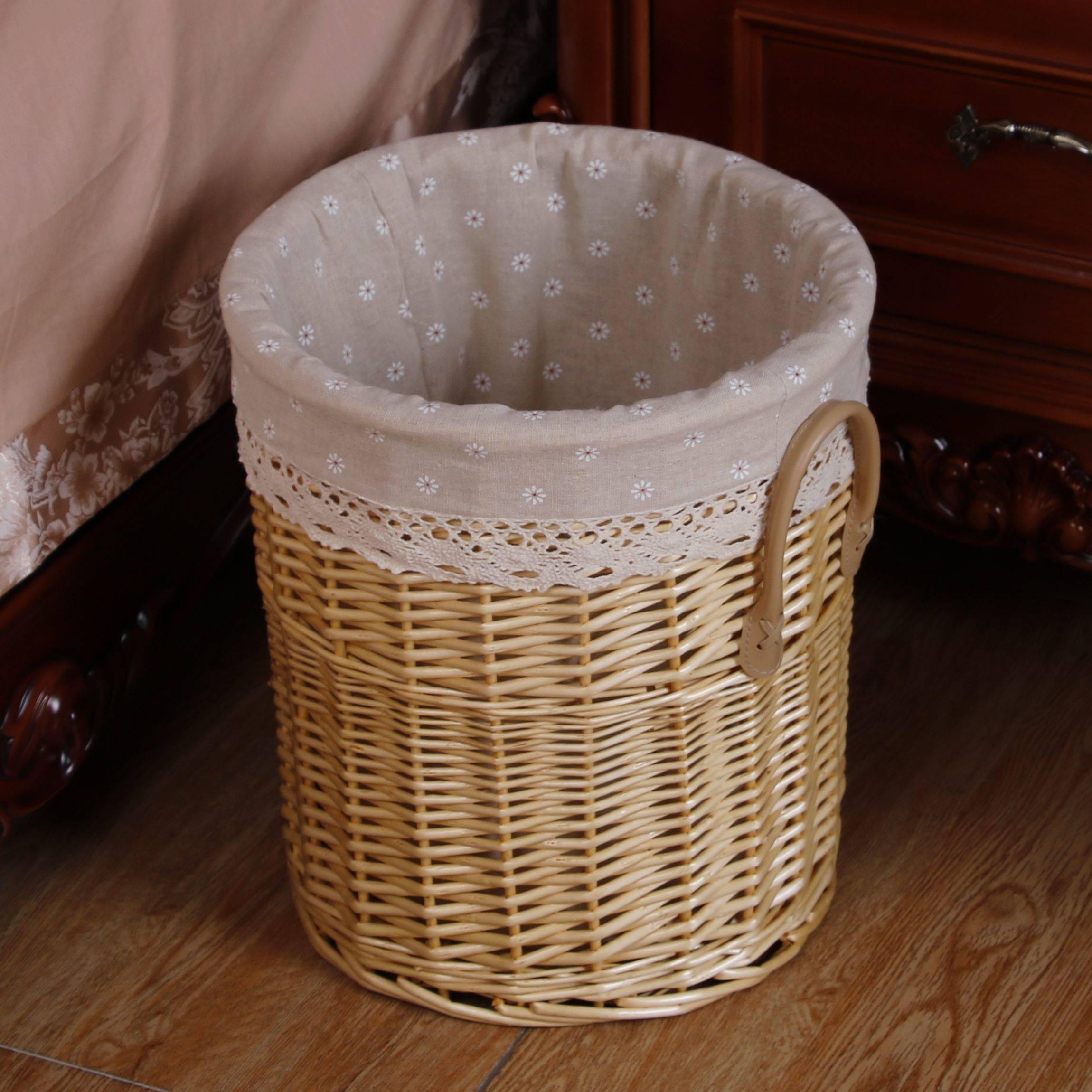 新商品の汚いかごの大きい藍子の洗濯かごは収めた藤を入れて服を編んでかごを収納します簡単に家庭用の枠を予約します。