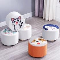 矮沙发靠背小椅子迷你成人儿童凳子可爱阳台布艺矮凳客厅家用创意