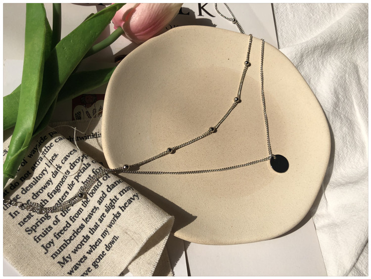 Fashion Net forest series accessories versatile collar multi-layer backbone Necklace female students superimposed round beads personality clavicle double layer