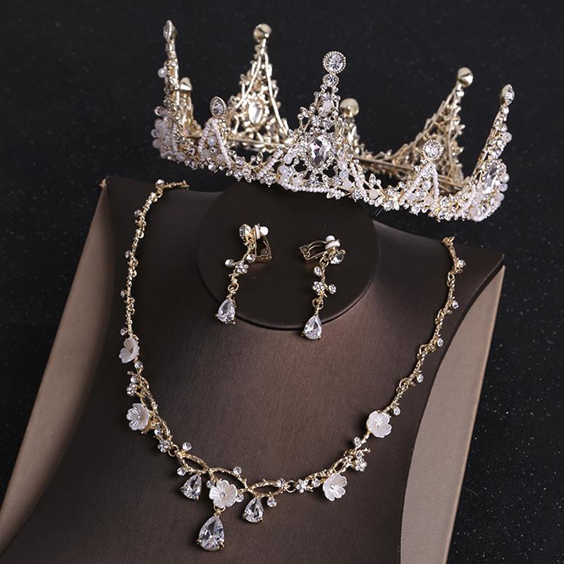 Bridal headdress, crown, simple accessories, atmospheric crown, female birthday three piece Princess super fairy decorative wedding dress