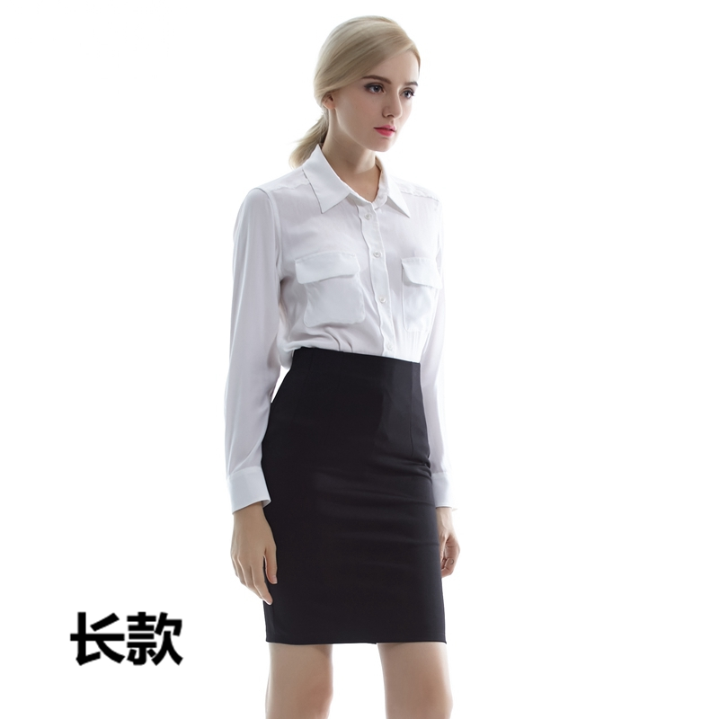 One step one line skirt 2019 short skirt with buttock skirt Korean high waisted suit skirt and trousers skirt wash professional black