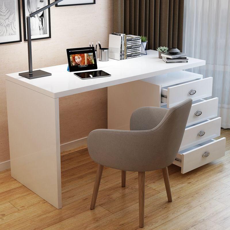 现代简约家用台式白色烤漆电脑桌券后98.00元