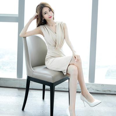 2020夏季新款裙子韩版名媛时尚气质性感修身显瘦系带包臀连衣裙