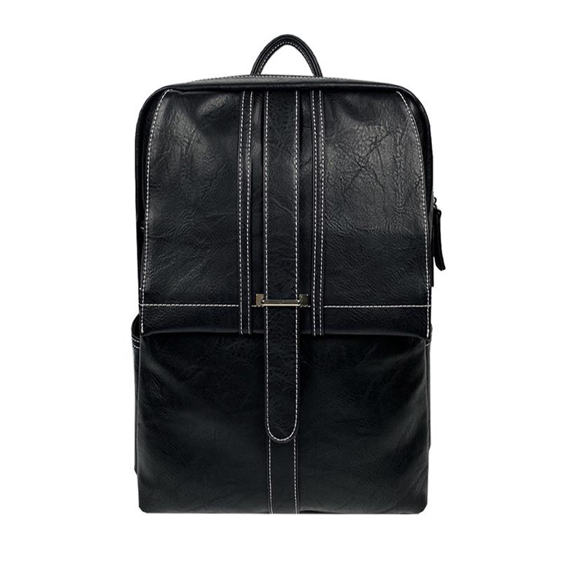 男式背包热卖潮款书包PU双肩包定制时尚潮流旅行包休闲男包