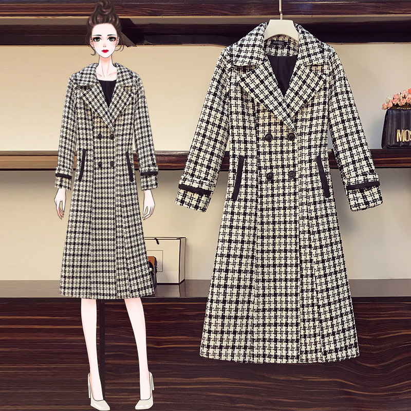 Large womens wear fall / winter 2020 new style fat sister looks thin foreign style