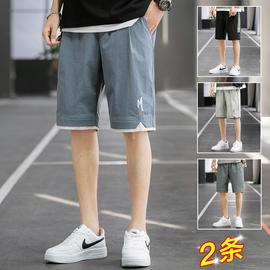 短裤男士夏季薄款潮流大裤衩五分裤子宽松外穿运动七分裤休闲中裤