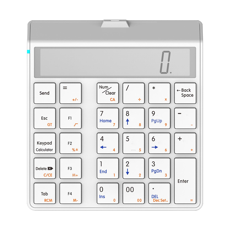 桑瑞得KC9001S蓝牙无线数字键盘财务会计充电小键盘 显示屏计算器