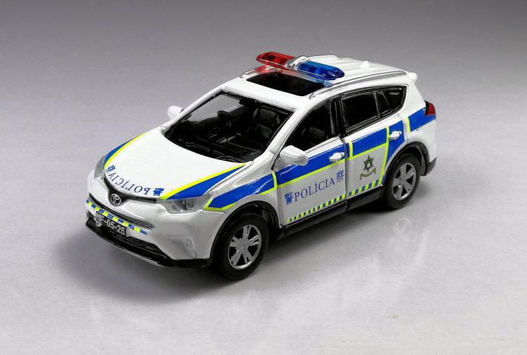 高档TINY微影 1:64 Rav4 SUV 合金警车模型 Macau 澳门旅游警察,可领取元淘宝优惠券