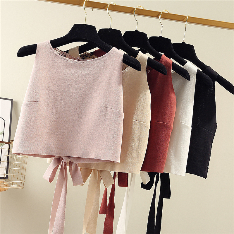 2020 summer sexy silk V-neck silk satin small sling vest womens metal chain back show thin top