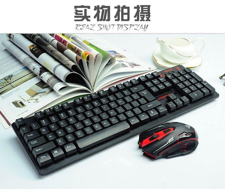 套装鼠标键抖2.4无线款同手感HK6500鼠机械音键盘悬浮G套装键盘