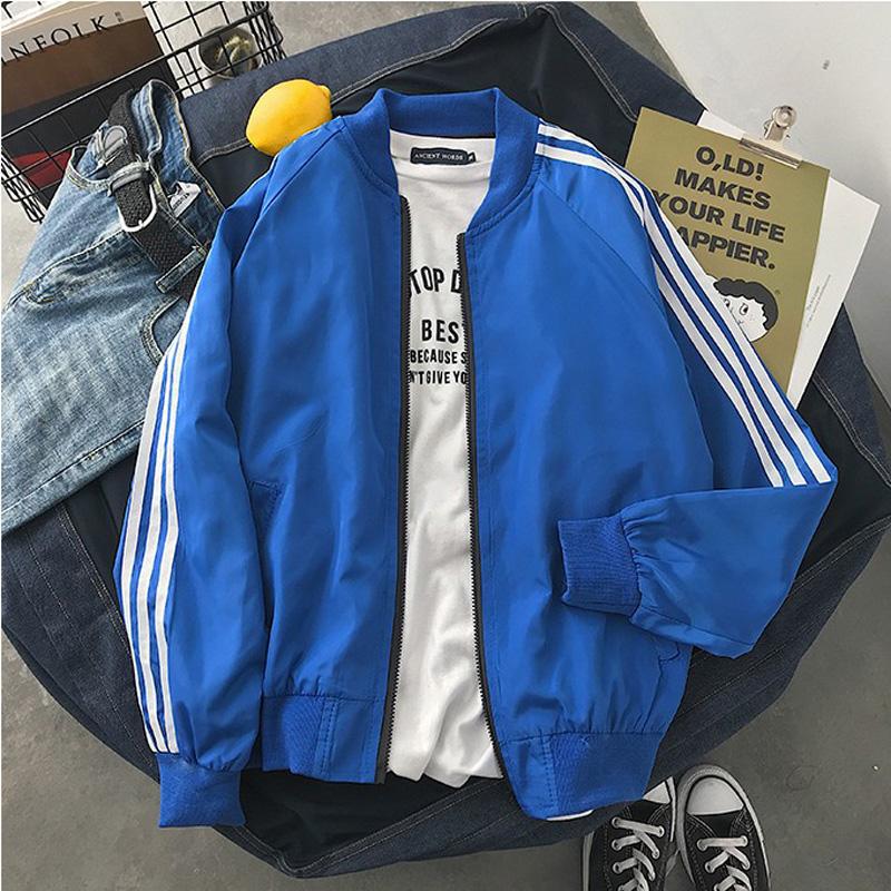 Autumn youth boys Korean version of trendy loose Baseball Jacket jacket top coat Long Sleeve Jacket versatile