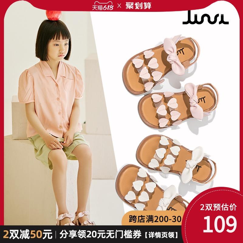 女童鞋凉鞋2021年新款夏季夏天公主中大童小女孩学生软底时尚网红