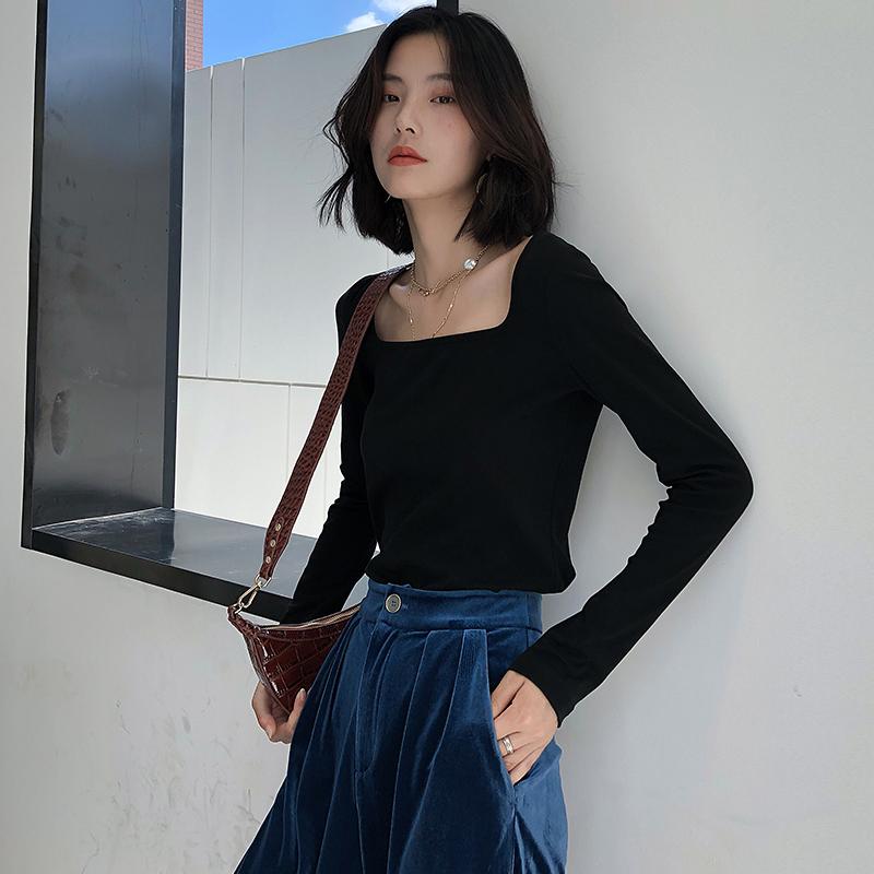 10月09日最新优惠k家针织t恤女长袖2019秋装打底衫