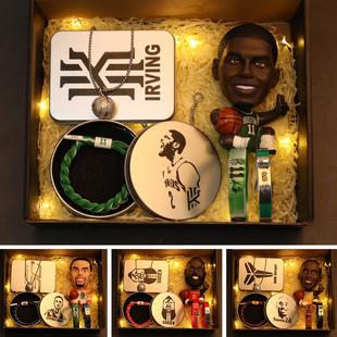 NBA欧文库里5科比篮球生日手环全明星模型詹姆斯创意手办男生礼物