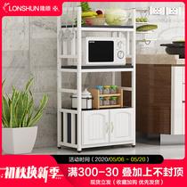 餐邊柜微波爐置物架帶門多功能廚房儲物柜簡約茶水柜歐式客廳碗柜