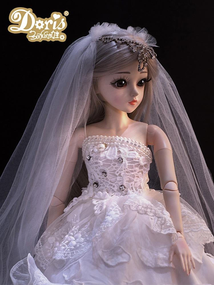 多丽丝凯蒂娃娃60厘米公主玩具女孩超大号套装bjd正版洋仿真礼盒