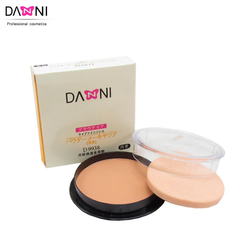 专业化妆师推荐 DANNI/丹妮保湿多用粉饼 带粉扑 11克 遮瑕