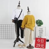 男童韩版 爱心字母印刷圆领打底衫 潮 儿童棉质长袖 T恤2019春秋新品